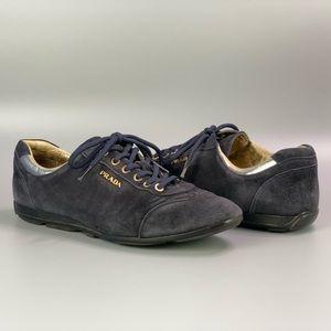 Prada Blue Suede Shoes